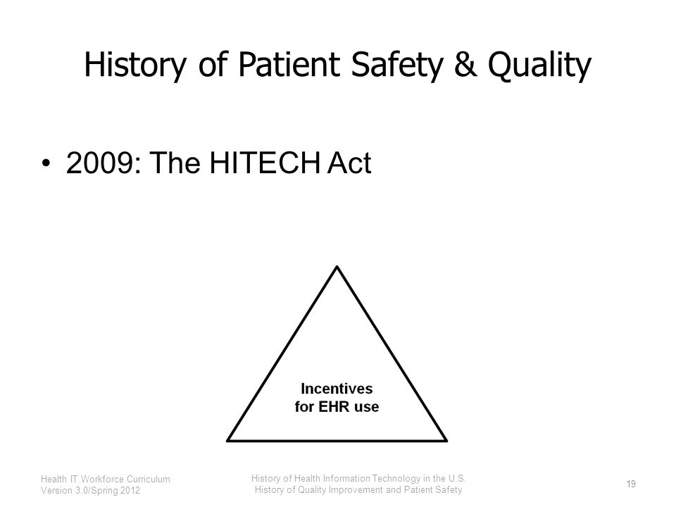 History of Health Information Technology in the U.S. - ppt ...