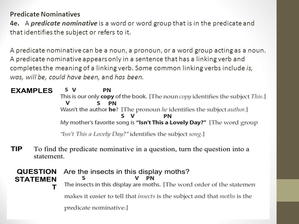 Direct and Indirect Objects Subject Complements ppt download – Predicate Nominative Worksheet