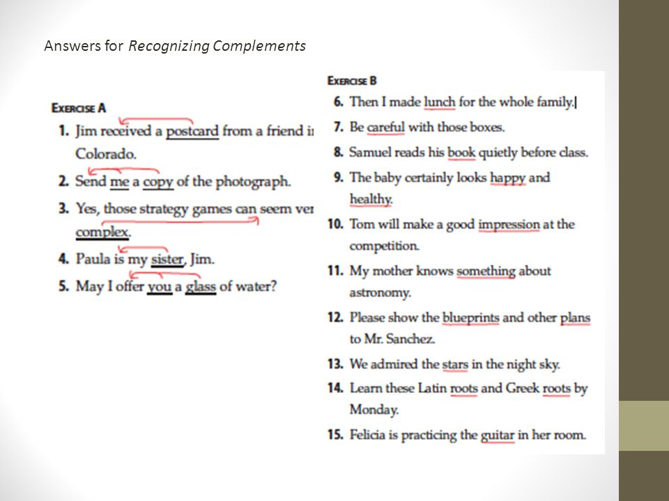 Subject Complement Worksheet with Answers – careless.me