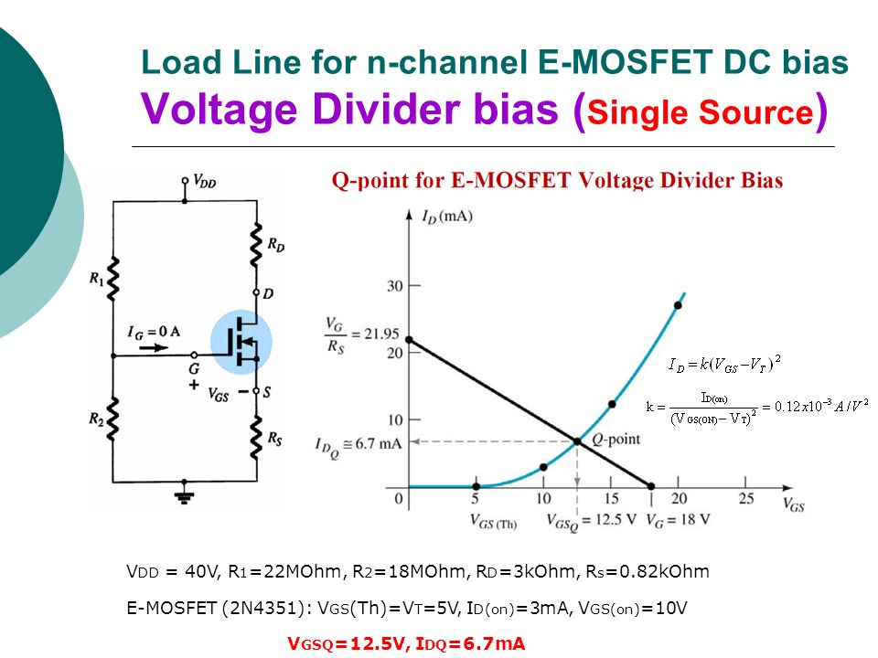 k line with mosfet