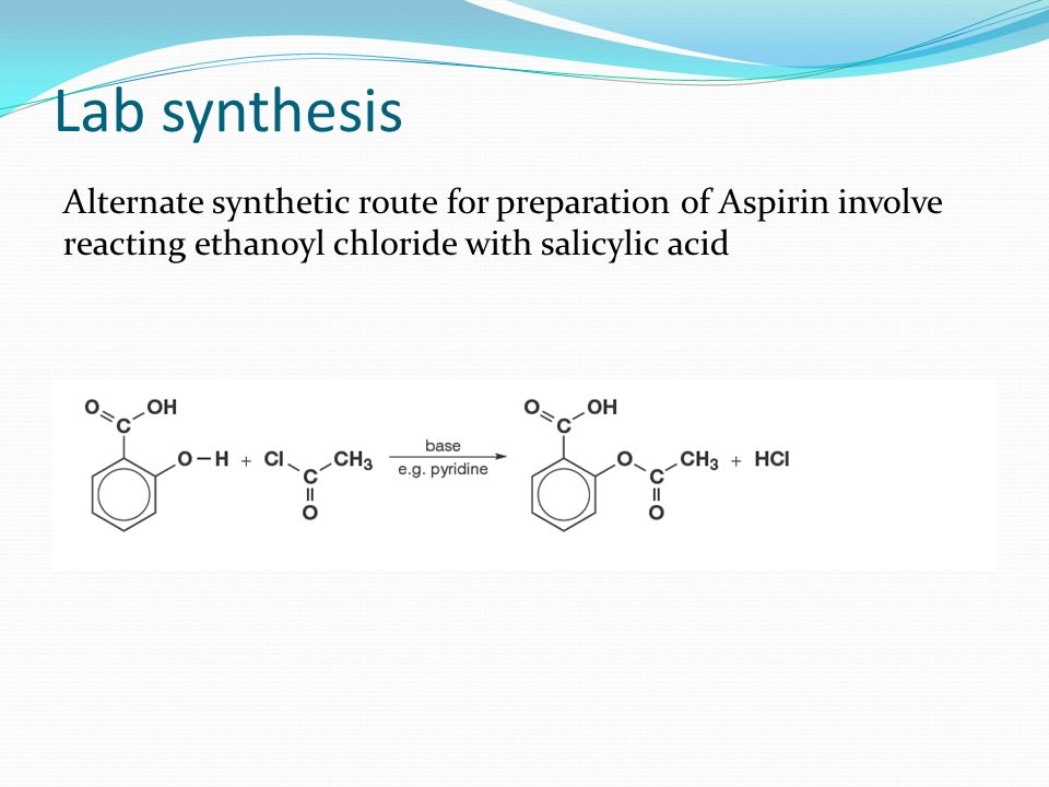 conclusion synthesis of aspirin lab Introduction the synthesis of acetaminophen is based on the amine group of p- aminophenol being acetylated by acetic anhydride to form an amide functional group conclusions the purpose of the experiment was to identify the melting temperature of pure acetaminophen after undergoing synthesis.