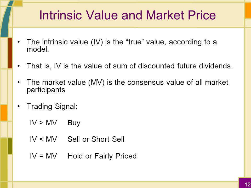 Intrinsic Value