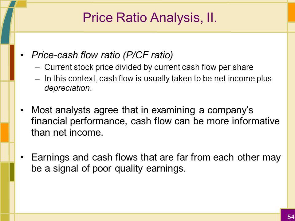 how to find price cash flow ratio