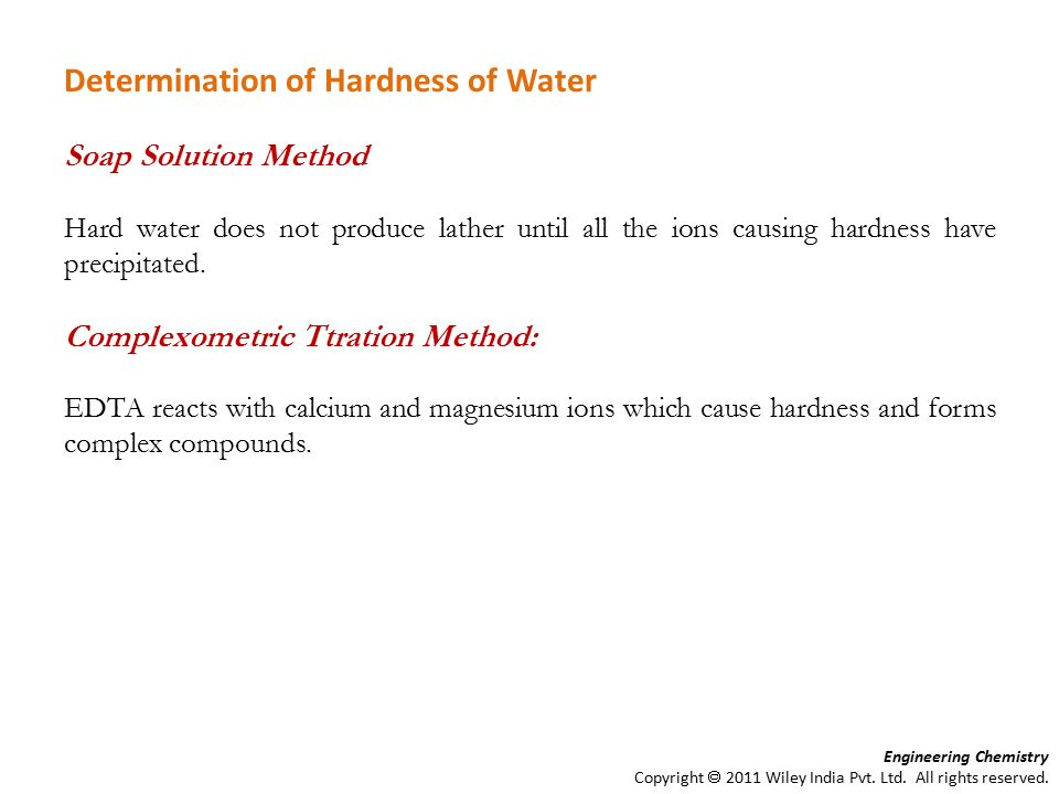 determination of water hardness essay