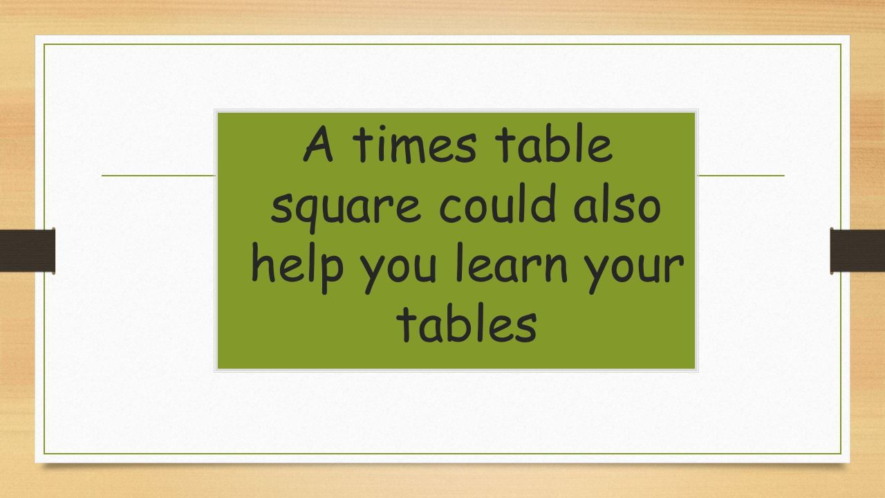 Year 2 times tables ppt download 33 a times table square gamestrikefo Choice Image