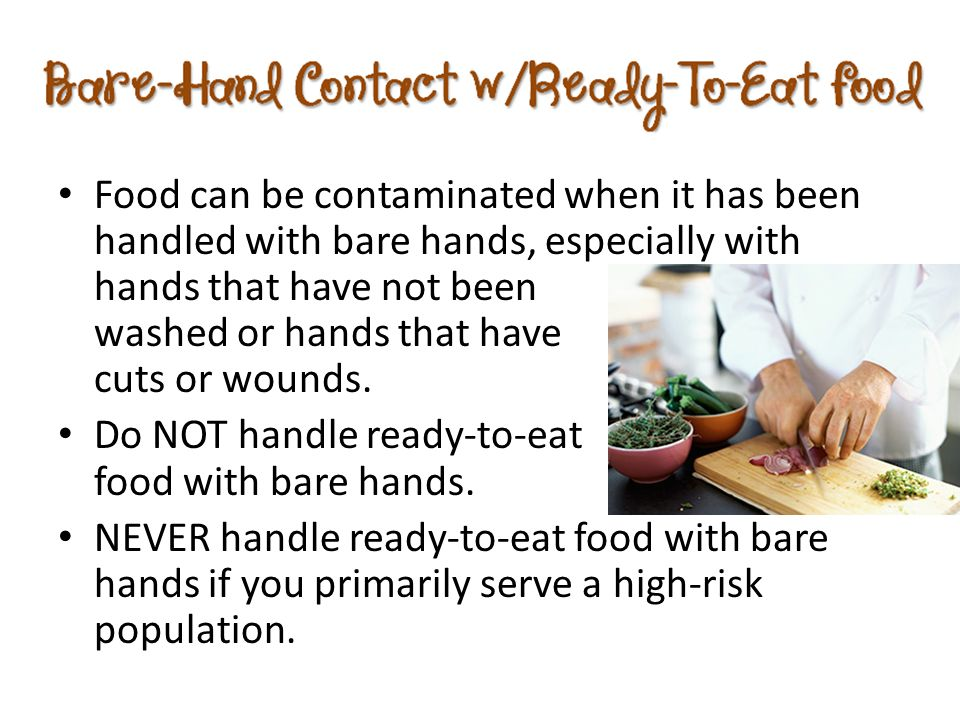 When they have a foodborne illness ppt download for Food bar hands