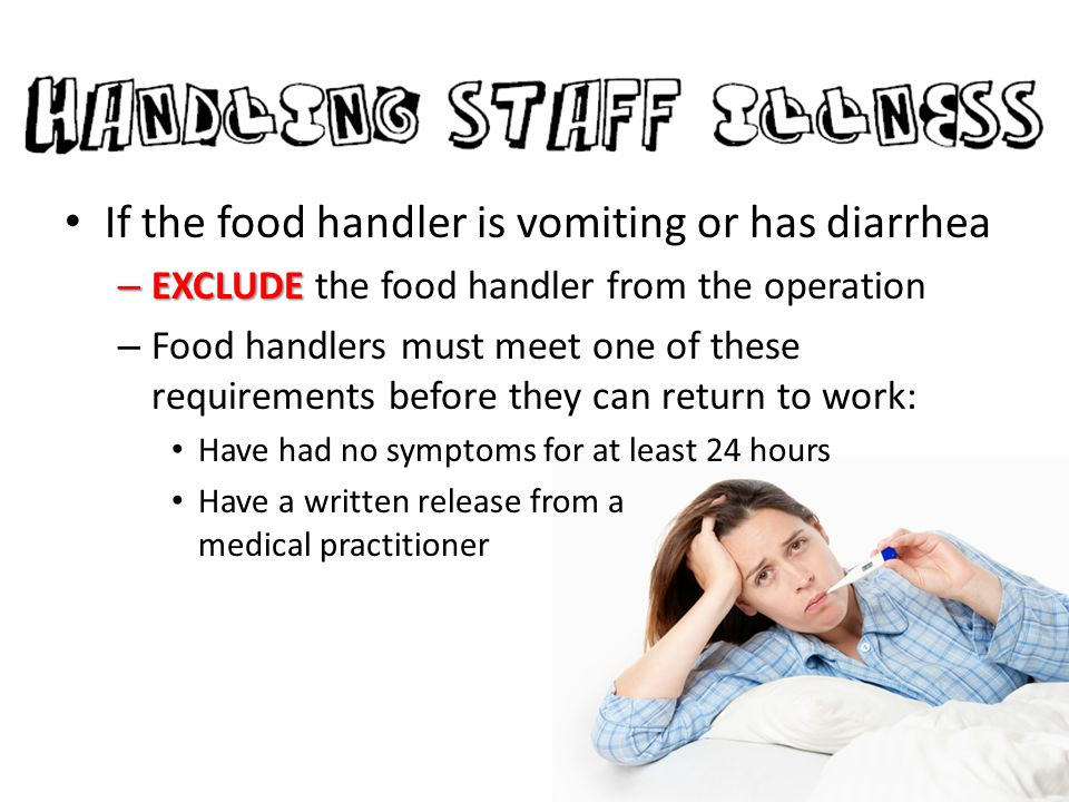 When Can A Food Handler With Jaundice Return To Work