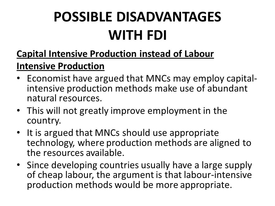 benefits and disadvantages of mncs to developing countries Although there is substantial evidence that such investment benefits host countries,  how beneficial is foreign direct investment for developing countries.