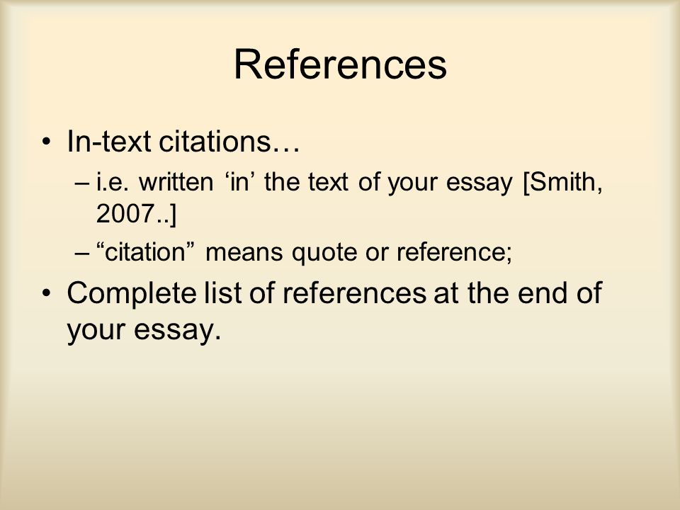 end of essay references Writing citations and references - how to reference a mondofacto study skills topic that will help you with writing references.