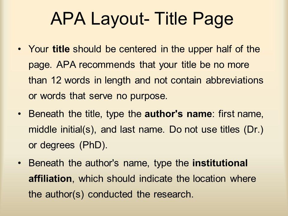header apa format word
