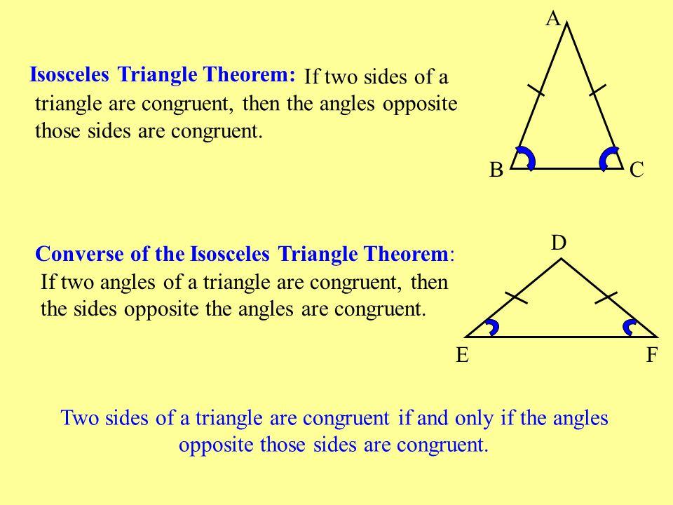 Isosceles Triangles A B C - ppt download