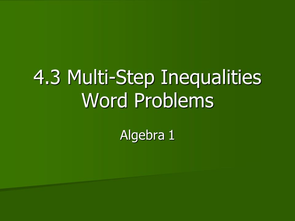Two-step inequality word problems (practice) | Khan Academy