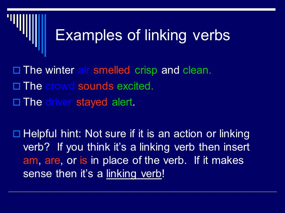 Action Verbs Linking Verbs Ppt Download