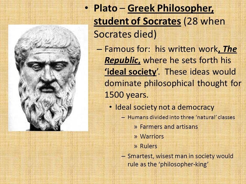 the greek philosopher plato is credited