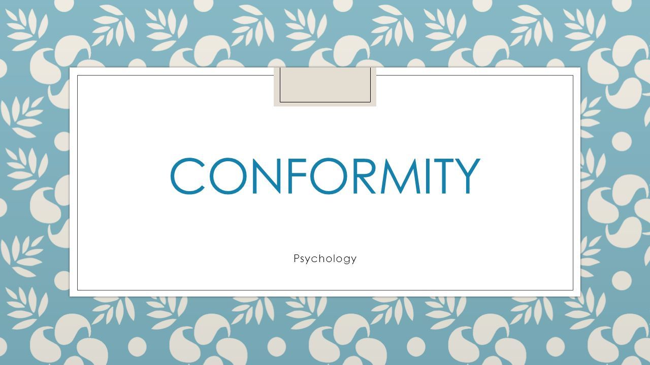 conforming to the majority research proposal Previous research the subject of conformity is one that has not been extensively researched over the years there are very few famous studies concerning conformity but of them soloman e asch's stands out.