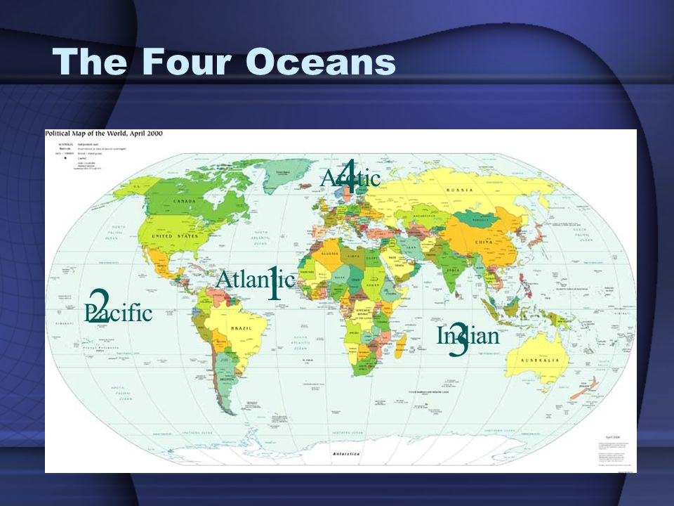 Name that continent europe north america asia africa ppt video 2 the four oceans 4 arctic 1 atlantic 2 pacific 3 indian gumiabroncs Images