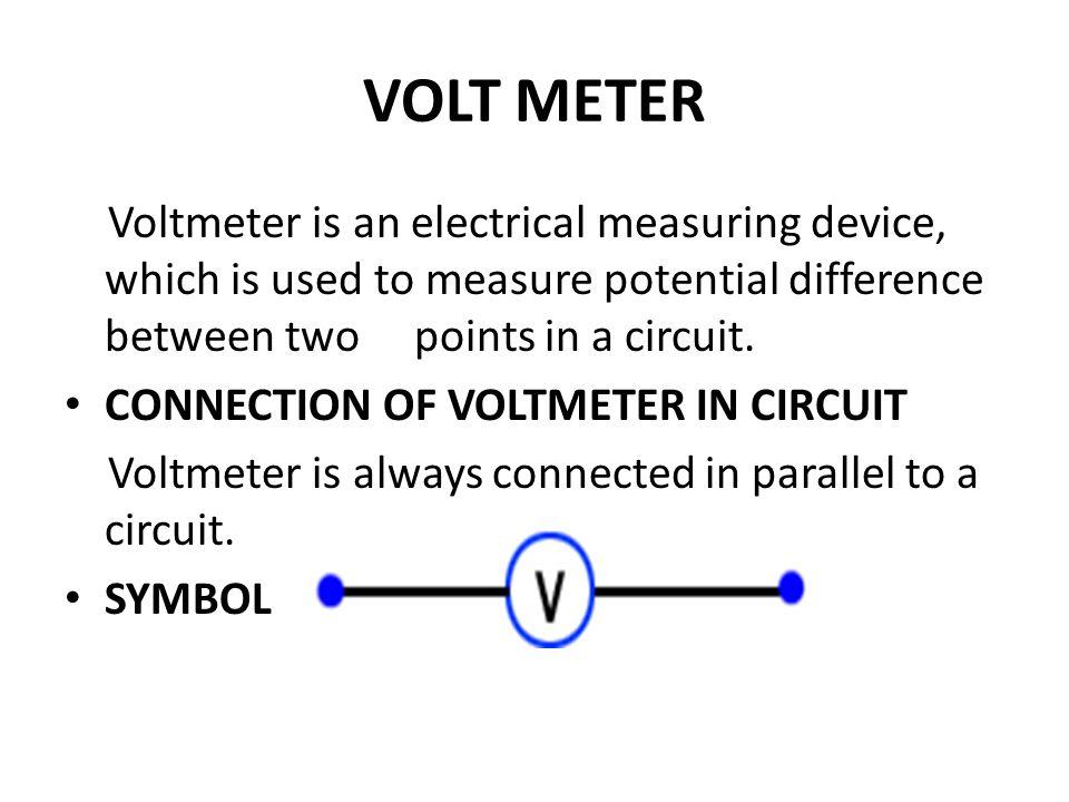 Voltmeter At A Point : Magnatism electrostatics ppt video online download