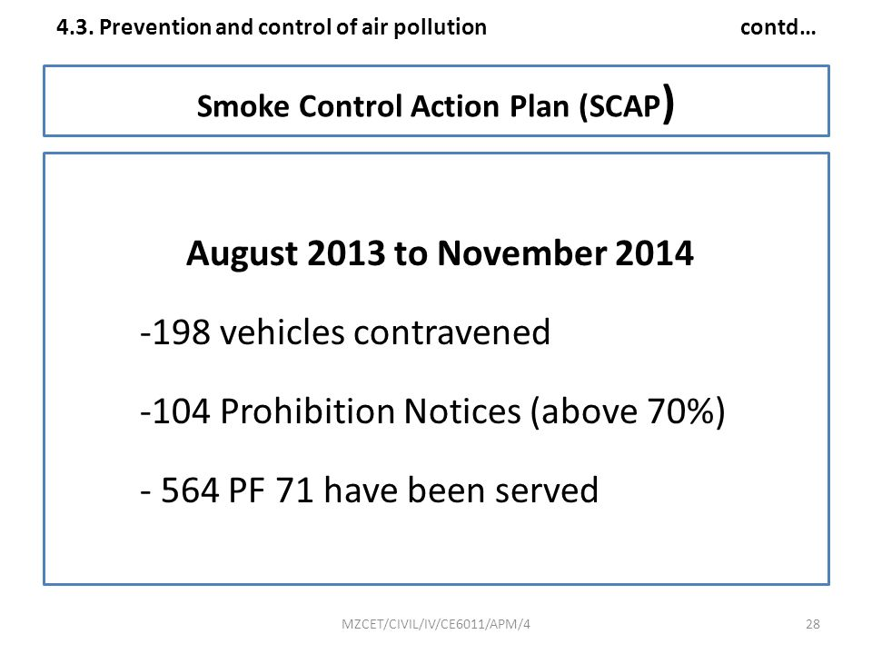 Smoke Control Action Plan (SCAP)