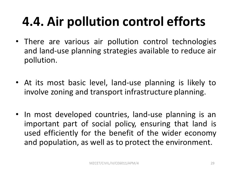 4.4. Air pollution control efforts