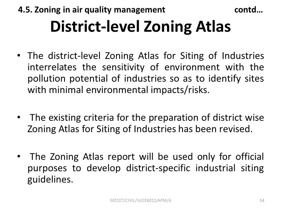 District-level Zoning Atlas