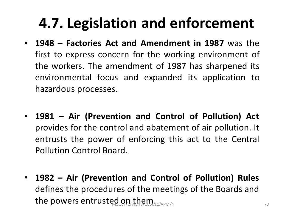 4.7. Legislation and enforcement