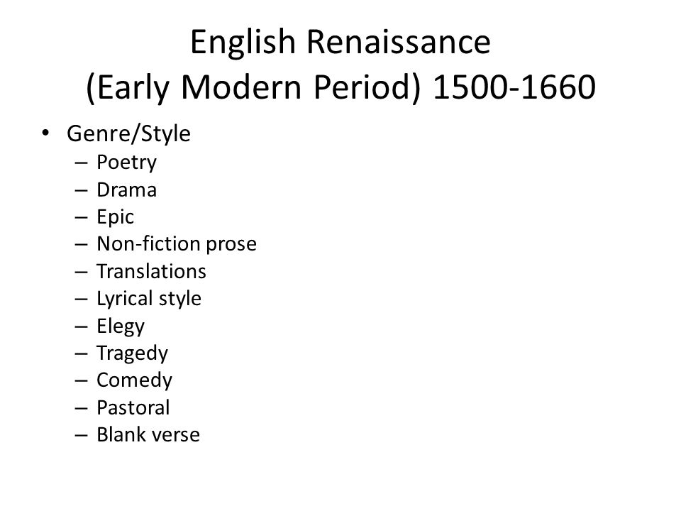 Renaissance and english poetry