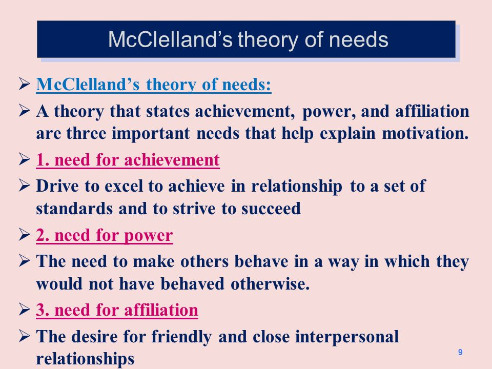 3. Contemporary theories of motivation