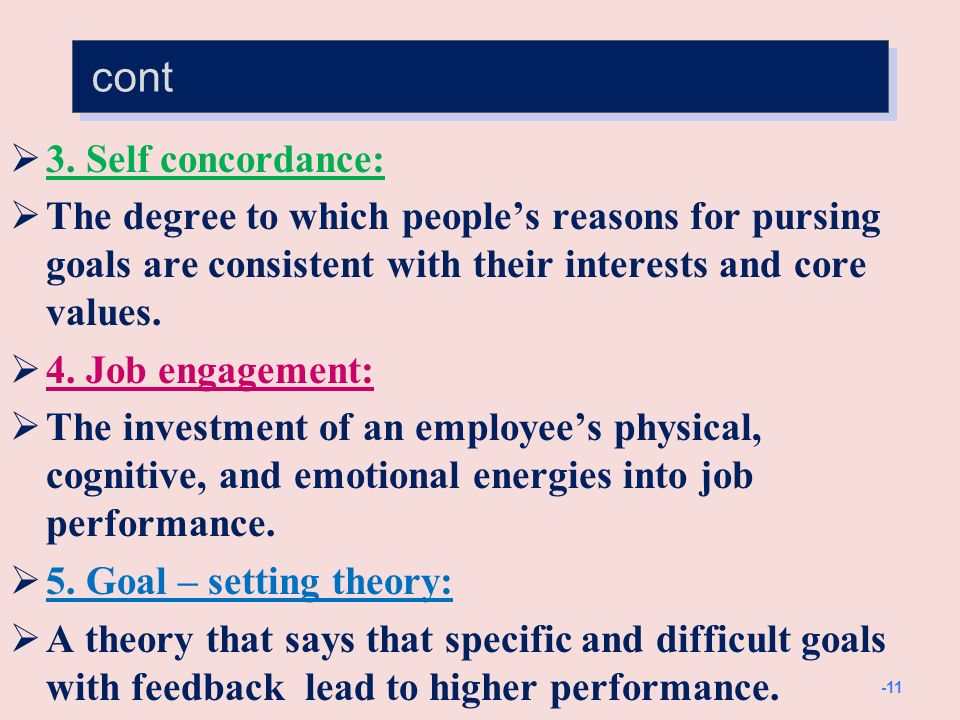 cont 6. Management by objectives (MBO):