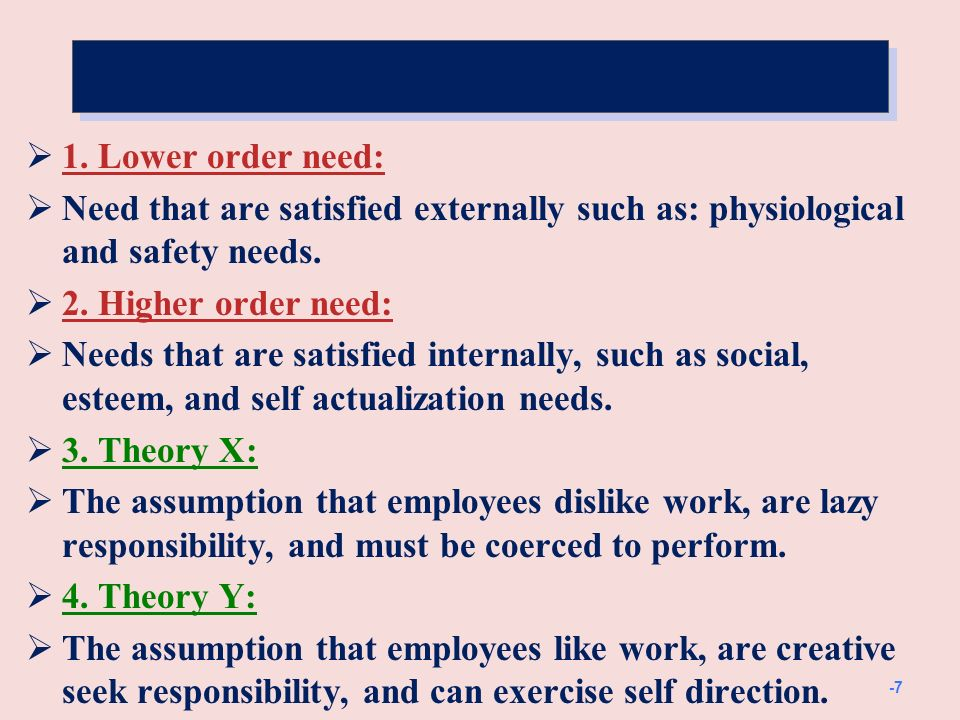 Cont. 5. Two factor theory.