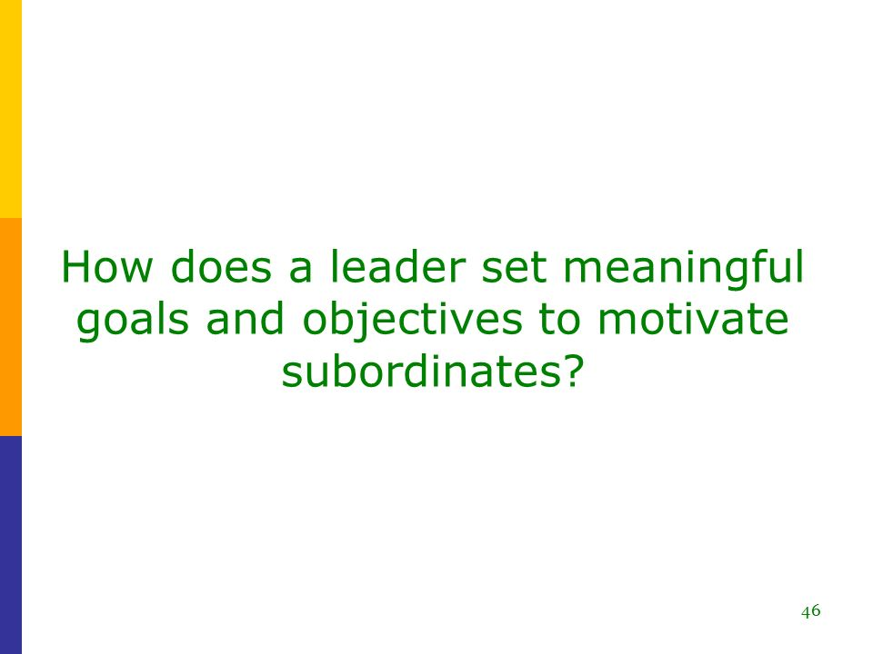 How to motivate your subordinates