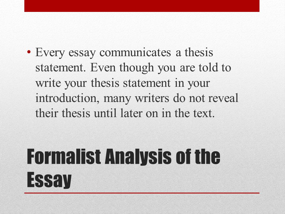 how to write a formalist analysis essay