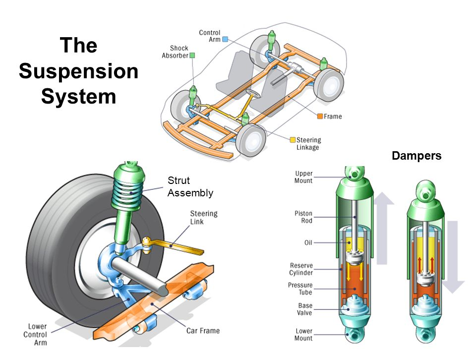 The Suspension System Dampers Strut Assembly