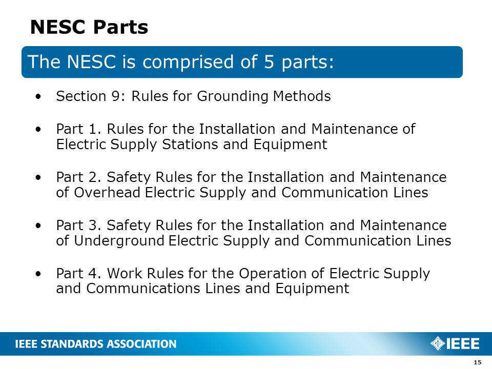 """The National Electrical Safety Code (""""NESC"""") Presented by ..."""