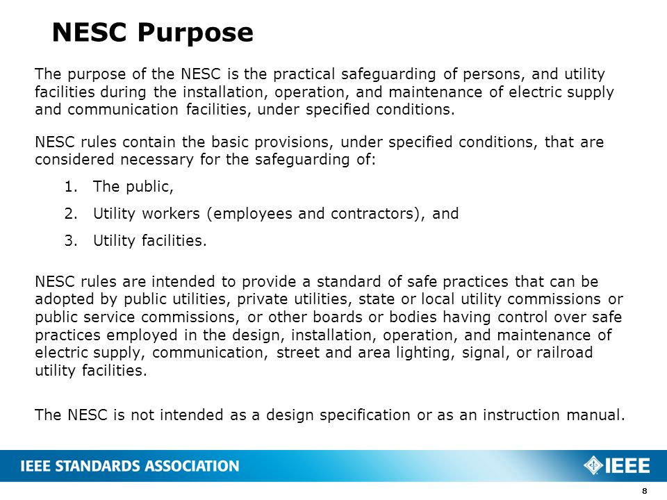 The national electrical safety code nesc presented by ppt 8 nesc sciox Images