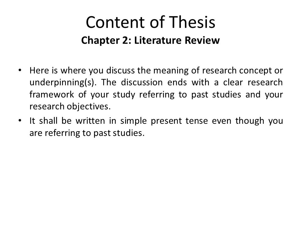 content of chapter 3 in thesis Guidelines for writing a thesis or dissertation, linda childers hon chapter 3: methodology this question guide, categories for content analysis) pre-test reliability and validity of instrument or method --administration of instrument or method for making observations.
