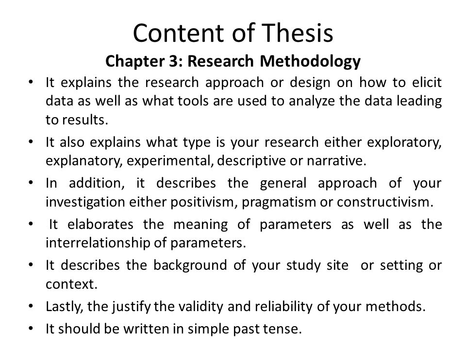 chapter 3 thesis materials and methods Chapter 3: components of a thesis   methods (chapter 3)   of a relevant  research topic 2 aiding the student in the selection of appropriate design and  methodology  the exact state, purity, etc of the materials may be very  important.