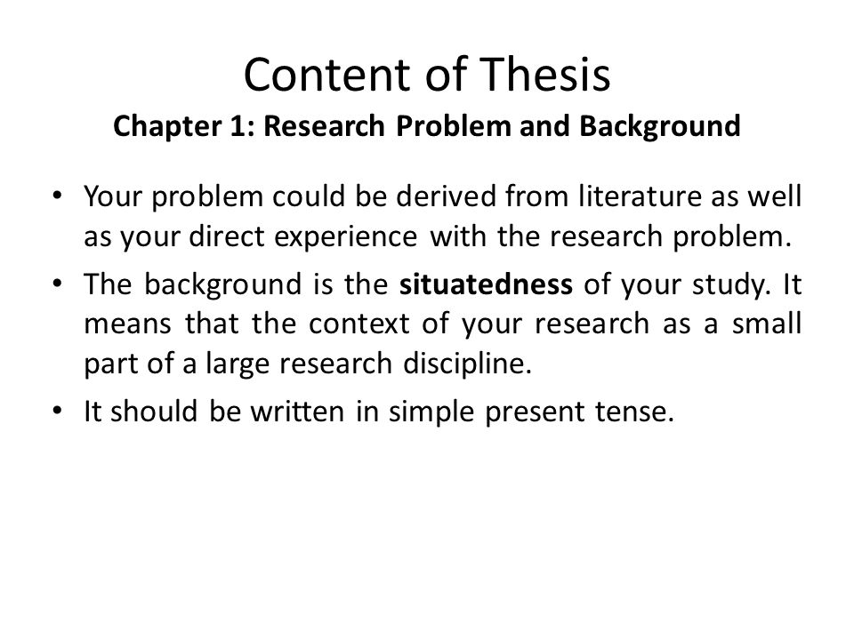 thesis chapter 1 background of the study A study of parents' conceptions  chapter 1 introduction to the thesis  1 11 background to the study.