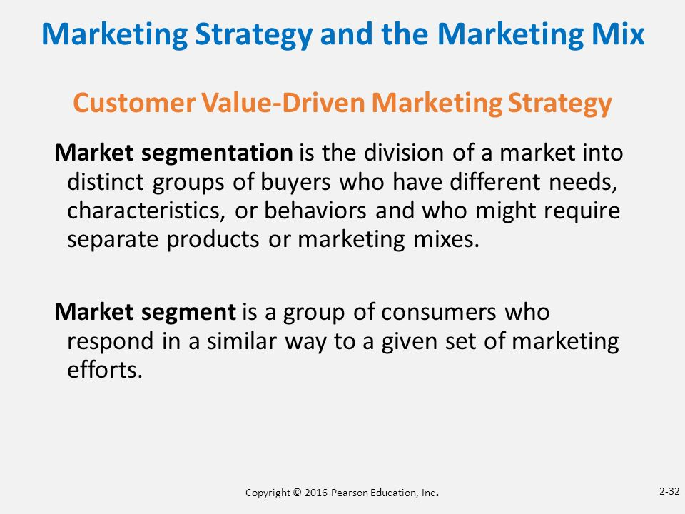 marketing mix for two different segments Some recommended marketing mixes for two different segments in bothurban and rural markets include pricing and product another is themarketing mix of product distribution wit h promotion.