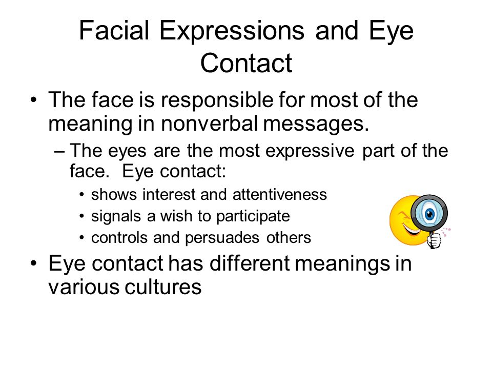 Yea, very expression facial nonverbal love give her