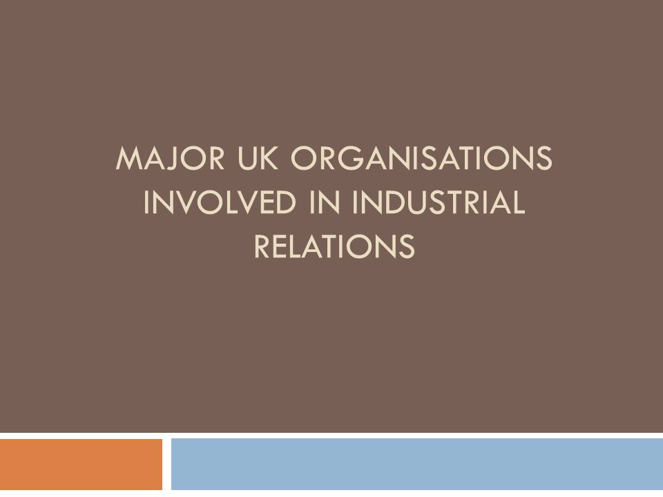 major perspectives in industrial relations The three perspectives on industrial relations and management style of ir  overview  management¶s main aim is profit, and control over work is enforced  by.