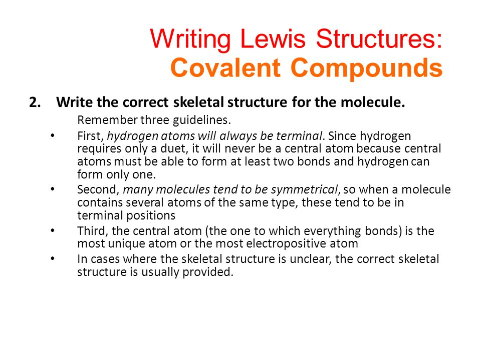 writing lewis structures Writing lewis structures - chemistry tips looking for college credit for chemistry enroll at.
