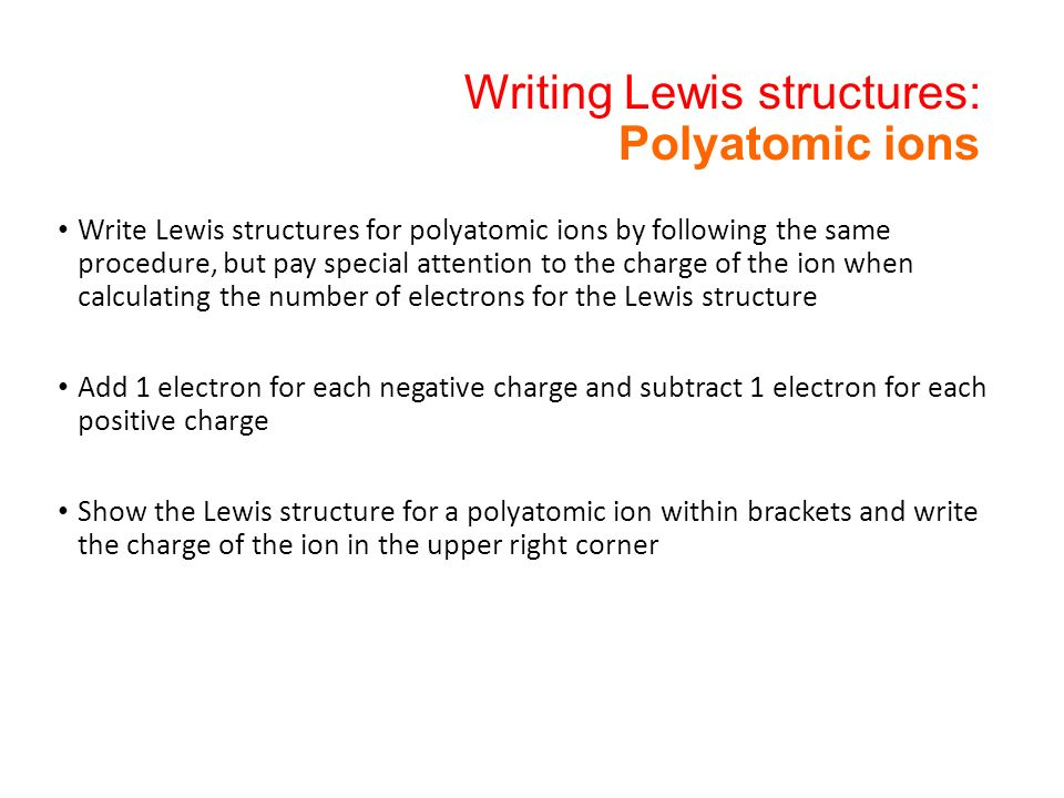Polyatomic Lewis Structures Chemistry Community