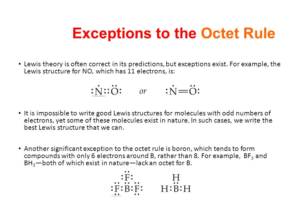 exceptions to the octet rule - 28 images - chapter 8 basic ...