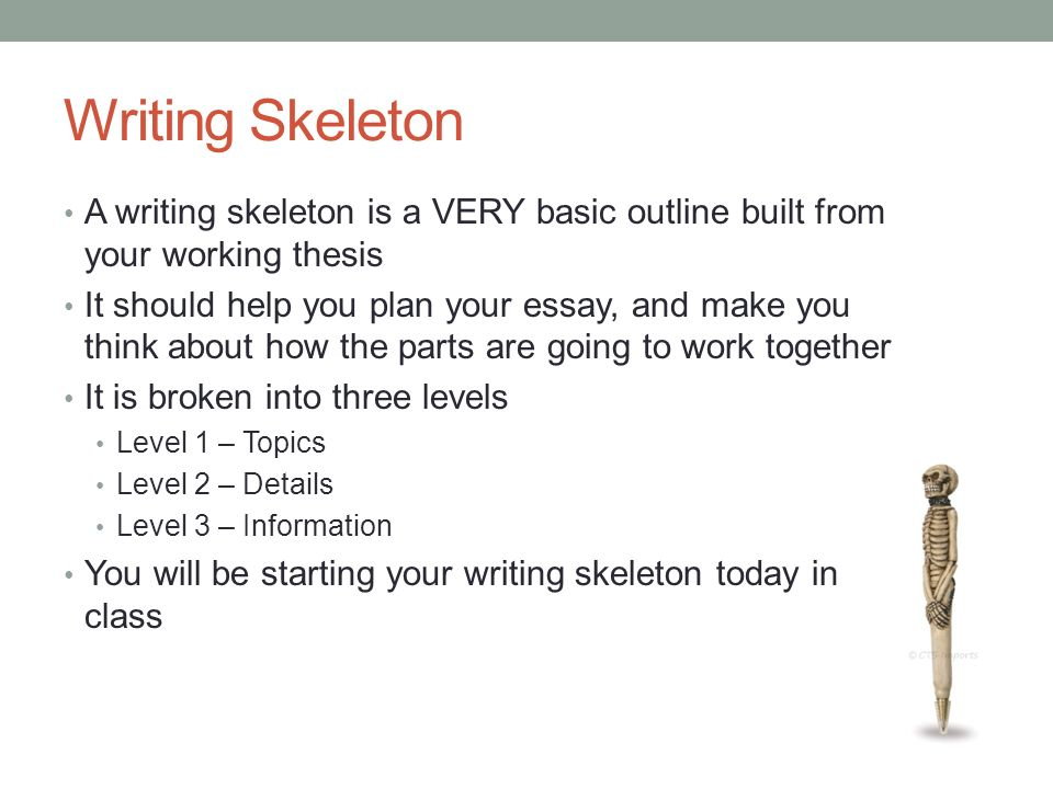 How I Use Skeleton Outlines to Write Faster