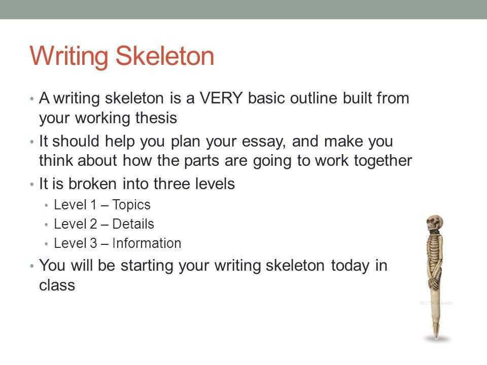 Extended Essay Skeleton Outline School