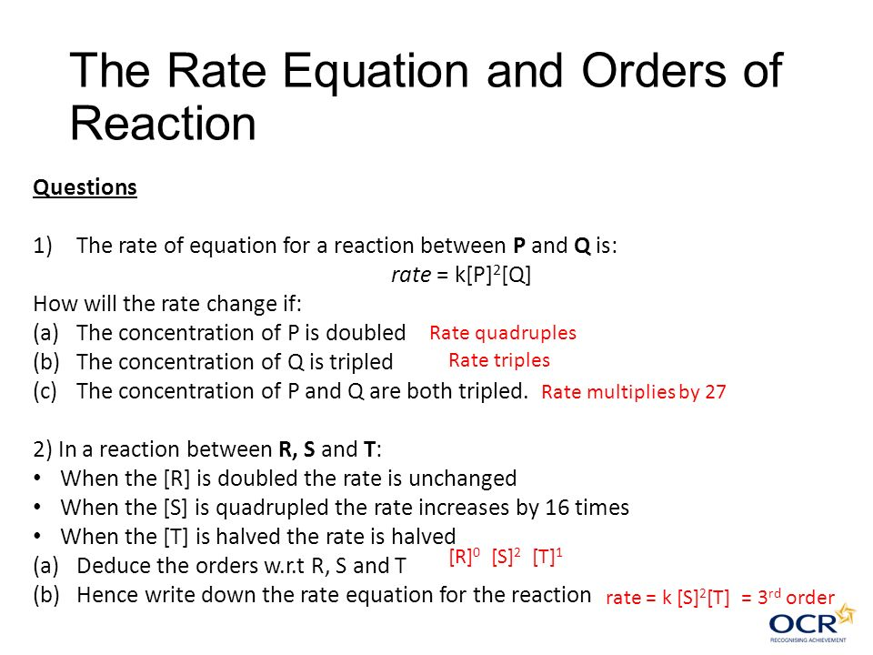 Rate of Reactions