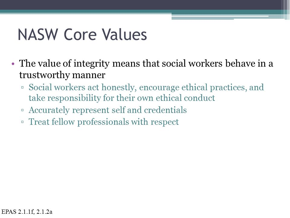 5 of the Most Important Core Social Work Values