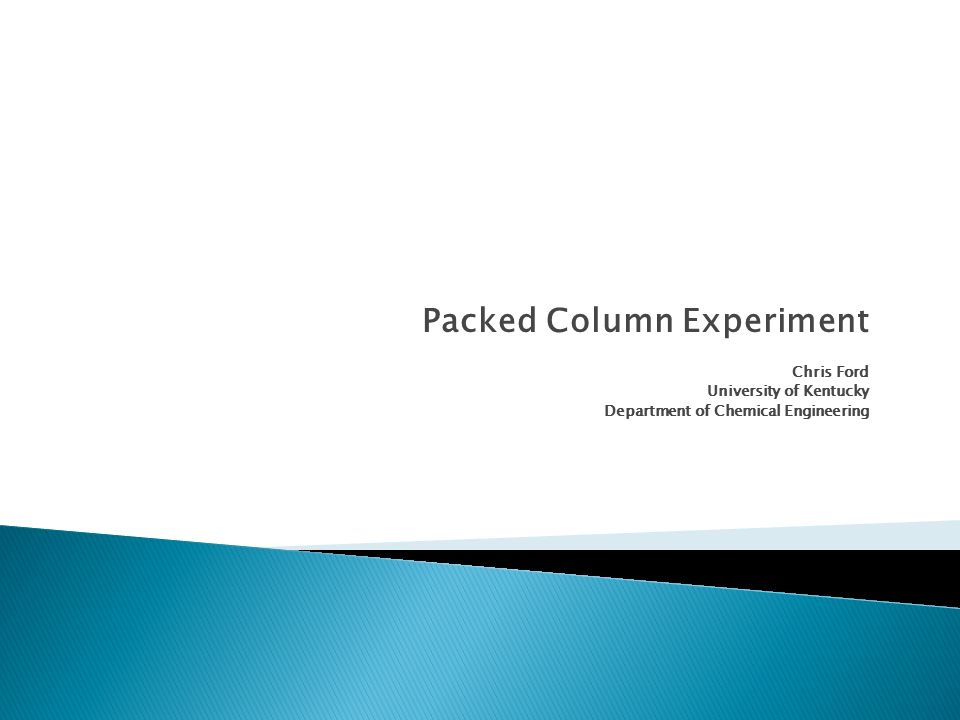 Packed Column Experiment