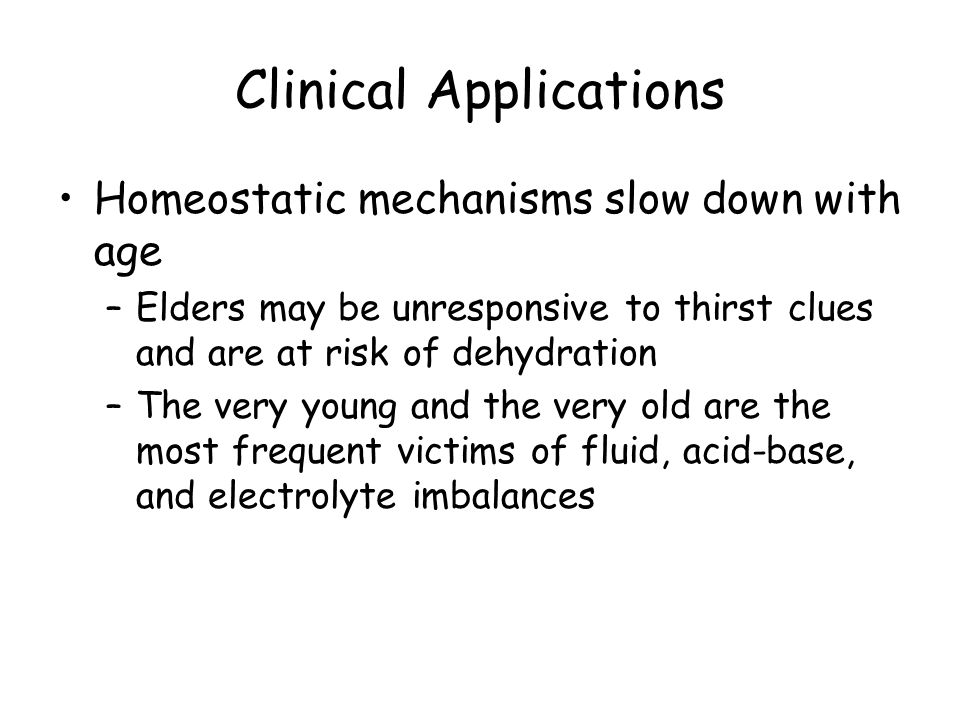 dehydration homeostatic imbalance Fluid and electrolyte imbalances with homeostatic mechanisms to keep the result in secondary imbalances/complications reduces dehydration.