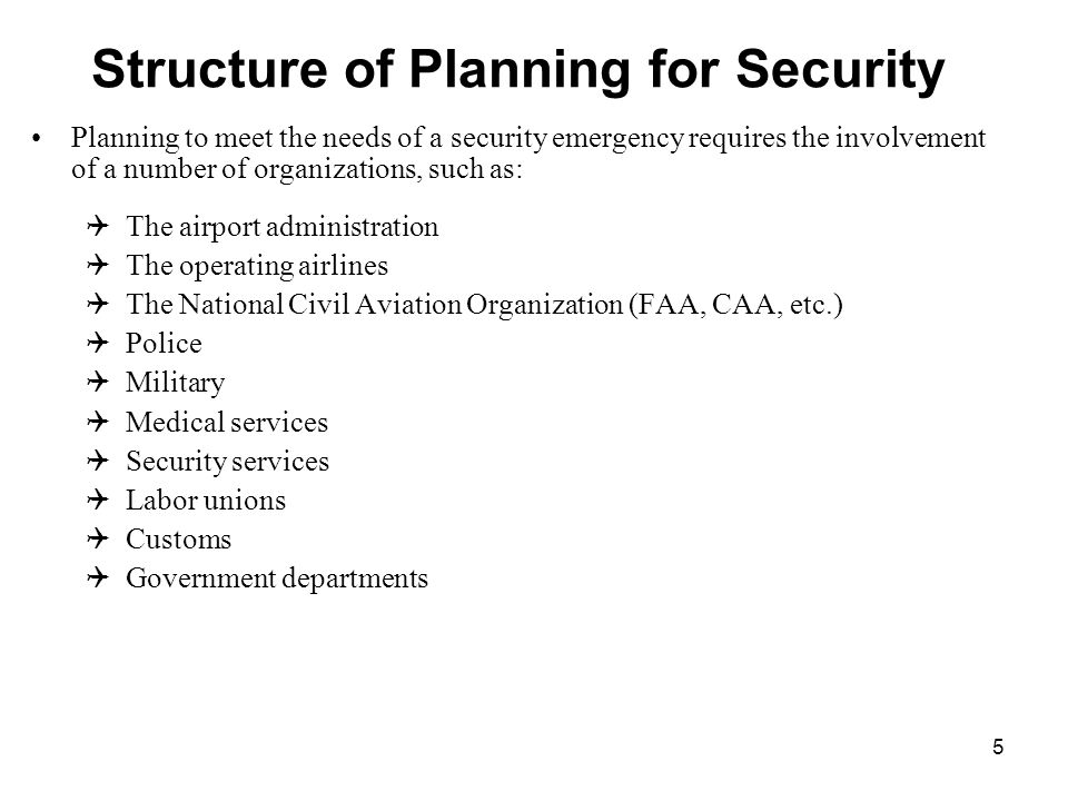 Passenger Aviation Security Layers